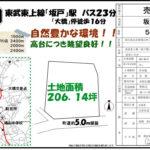 【物件NO.14】鳩山町大字須江(土地)